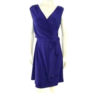 41Hawthorn Rocco Knit Dress Faux Wrap Belted